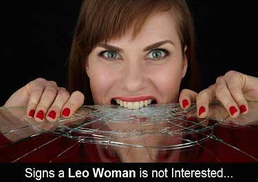 When a Leo woman loses interest