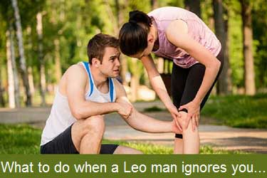 What to do when a Leo man ignores yo
