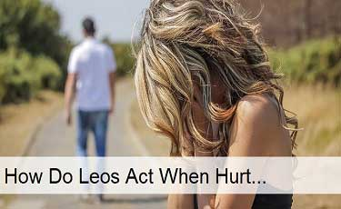 How do Leos Act When Hurt